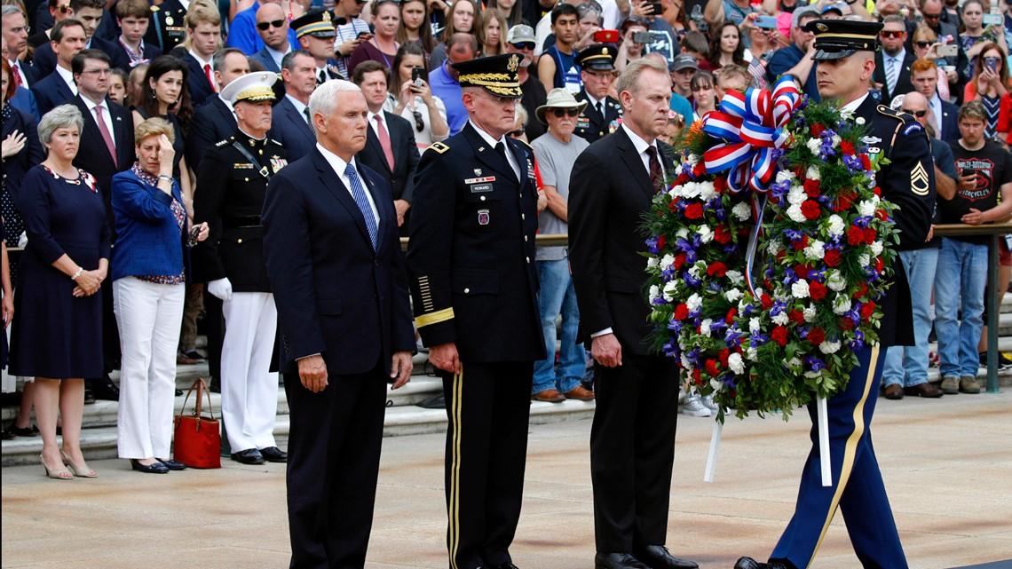 Pence honors fallen service members at Arlington National Cemetery