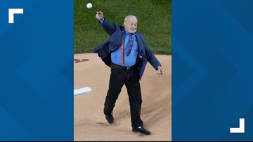 Astronaut Buzz Aldrin threw out ceremonial first pitch in World Series Game 3