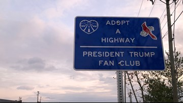 This Virginia man is adopting highways to show his support for President Trump