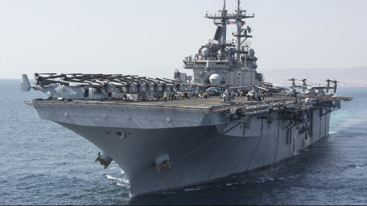 More than 4,500 sailors, Marines deploy before holidays