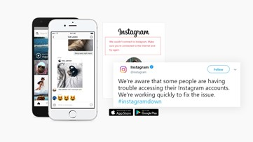 Instagram was down, but it's back