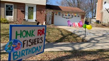 Neighbors throw socially distant birthday parade for 3-year-old with cystic fibrosis