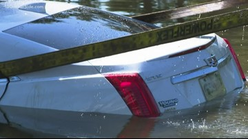 Car pulled out of Grand Rapids apartment complex pond