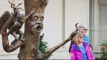 Holland installs Fighting Tree at 'Wizard of Oz' exhibit