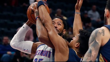 Ball leads Pelicans past Pistons in overtime, 117-100