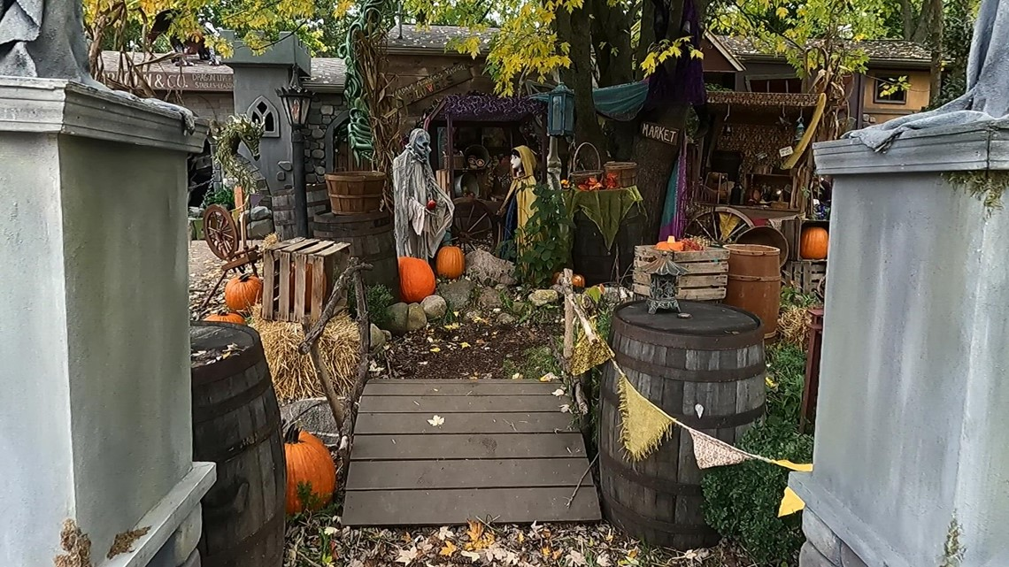 TAKE A TOUR: West Michigan artist transforms yard into an epic Halloween display