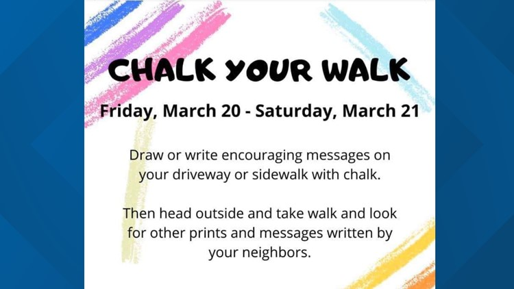 """""""Chalk your Walk"""" events continue between """"Sunrise"""" and """"Sunset."""""""