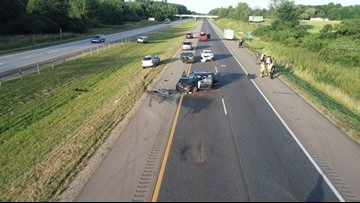 Infant and 1 adult injured in 6-car chain reaction crash
