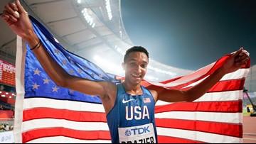 Kenowa Hills grad sets record, wins gold in world champion race