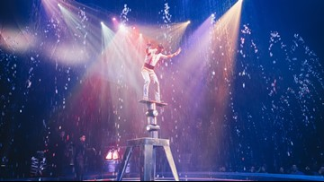 A traveling water circus is in Muskegon