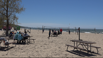 Lake Michigan beaches will continue to shrink due to near record water levels