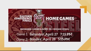 Muskegon Lumberjacks excited for Eastern Conference Finals!
