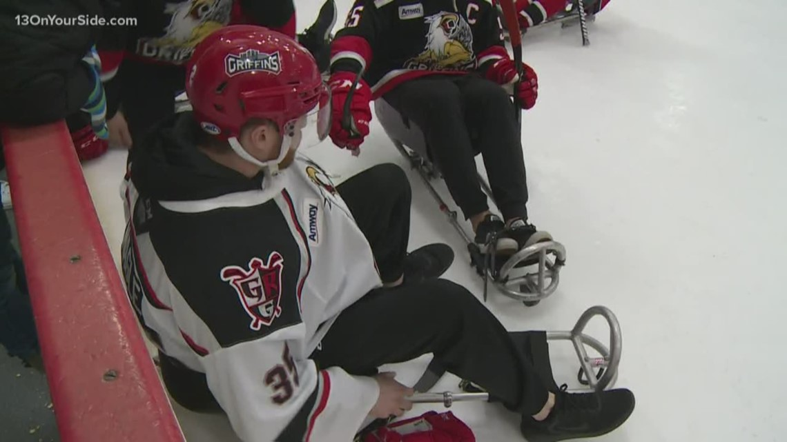 Sled Wings show off hockey skills at annual Grand Rapids Griffins match up