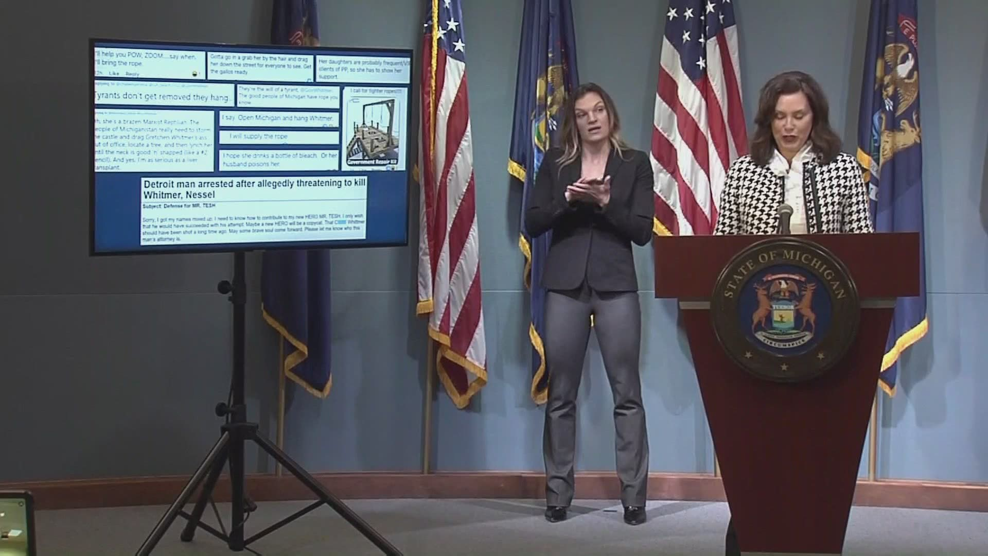 Whitmer Says Husband S Boat Comments Were A Failed Attempt At Humor Wzzm13 Com
