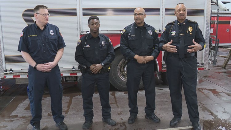 Muskegon Heights Police officers save 88-year-old woman from house fire started by flare gun