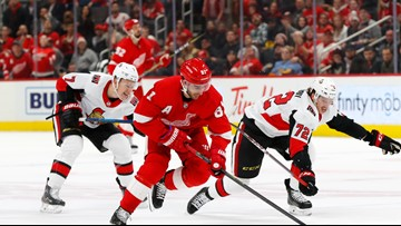 Duclair scores twice, leads Senators over Red Wings 4-3