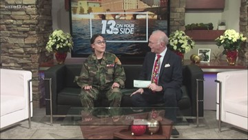George sits down with a Young Marine to talk Toys for Tots