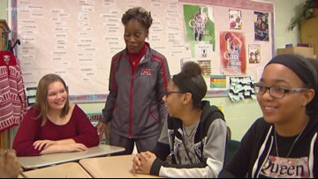 Muskegon Middle School students help with Toys for Tots