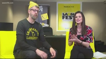 LaughFest Central: Stu McCallister plays improve game with 13 ON YOUR SIDE's Kristin Mazur