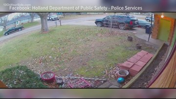 Holland Police looking to identify person stealing packages from front doors