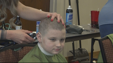 Head-shaving event helps kids with cancer