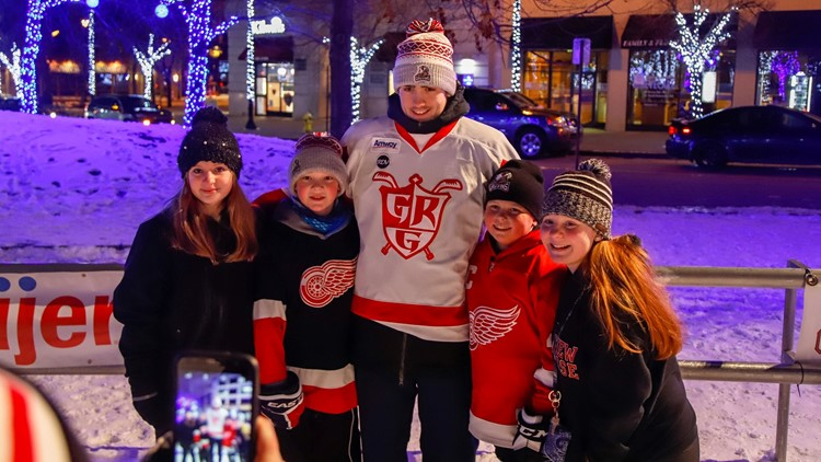 Skate with Griffins players during the 34-hour Great Skate Winterfest