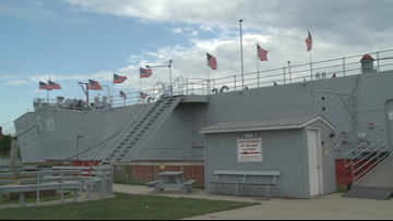 Surveillance camera records theft of exhibits from LST 393 museum