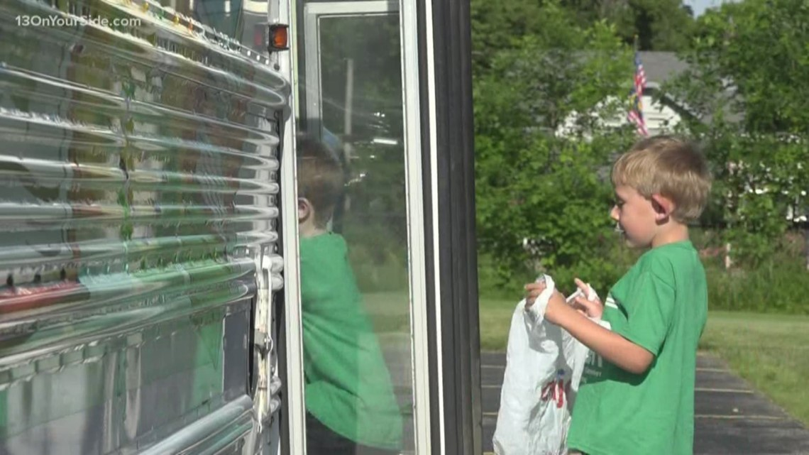School bus transforms to a library in the summer