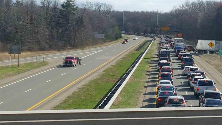 Three cars involved in crash on US-31 while drawbridge stuck