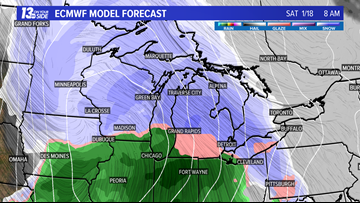 Get the snowblowers ready: Snow showers move in this weekend
