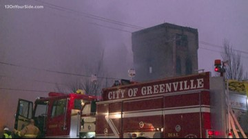 Fire destroys community theater's warehouse in Greenville