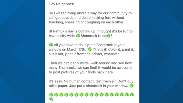 Neighborhood creates daily events for residents to participate in.