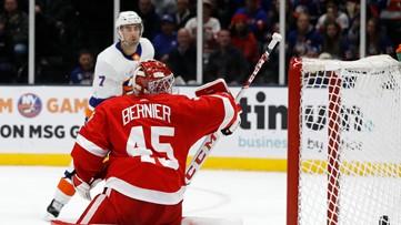 Eberle's hat trick helps Islanders end skid, beat Red Wings