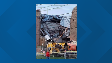 Another wall collapses at Lee Middle & High School in Wyoming