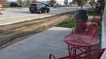 Two-way traffic resumes for Lakeside businesses as road project nears completion