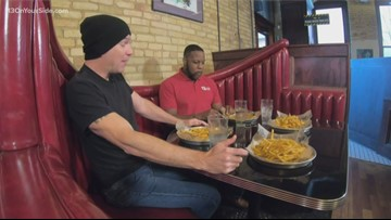 Let's Eat: James and Dave take on the HopCat Fry Eating Contest