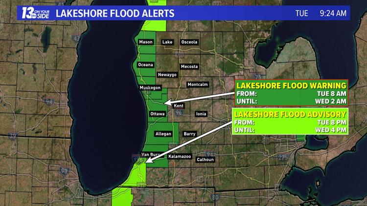 lakeshore flood alert