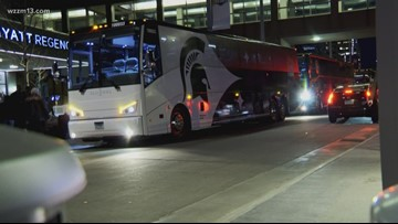 MSU arrives in Minneapolis for Final Four weekend