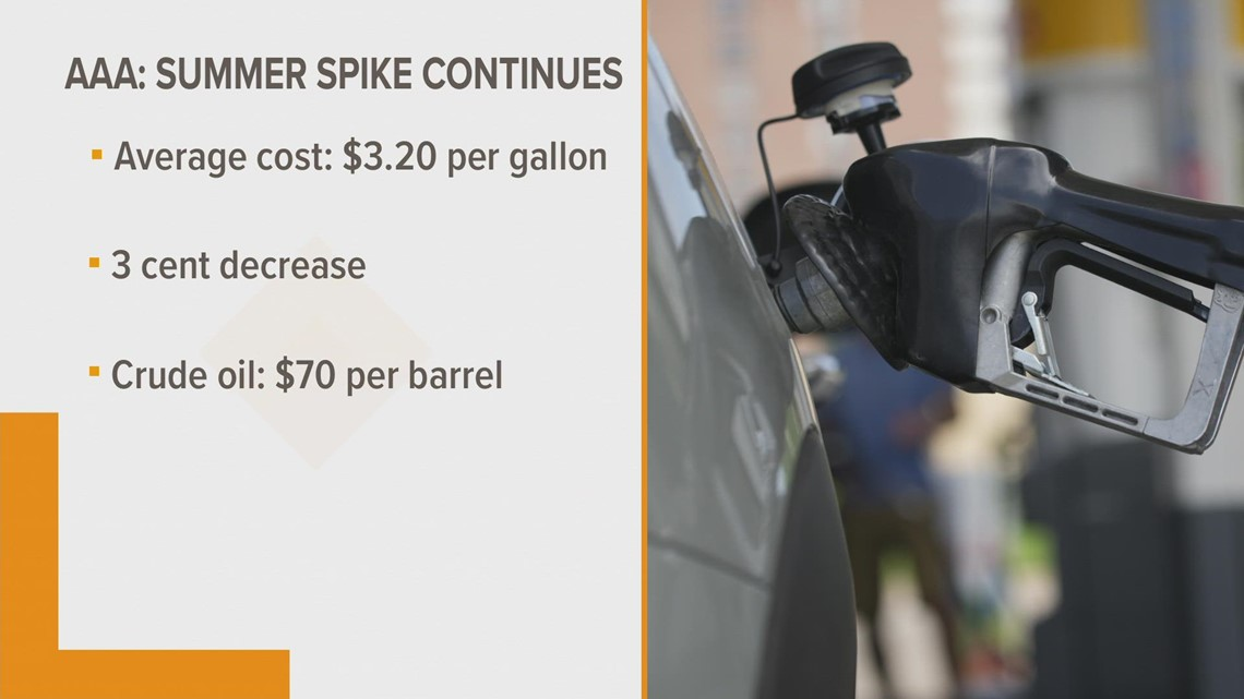 Michigan gas prices decreased slightly this week