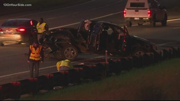 3 vehicles involved in rollover crash on I-96 Monday morning