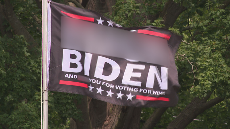 Should this flag fly? Homeowners have no plan to take down flag swearing about President Biden