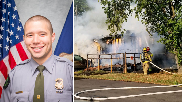 Off-duty DNR officer rescues elderly woman from burning mobile home in Spring Lake