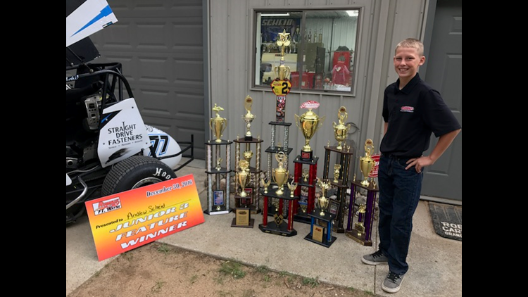Andrew Scheid, 13, from Sparta was the 2016 Lightning Sprint track champion at Meritt Speedway, which is located in Lake City, Michigan. He's spending 2017 transitioning from mini sprints to full-size sprint cars.