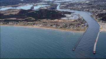 Iconic pier catwalk nears return to Lake Michigan shoreline