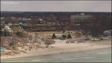 Stabenow, Upton tour erosion damage on Lake Michigan shoreline
