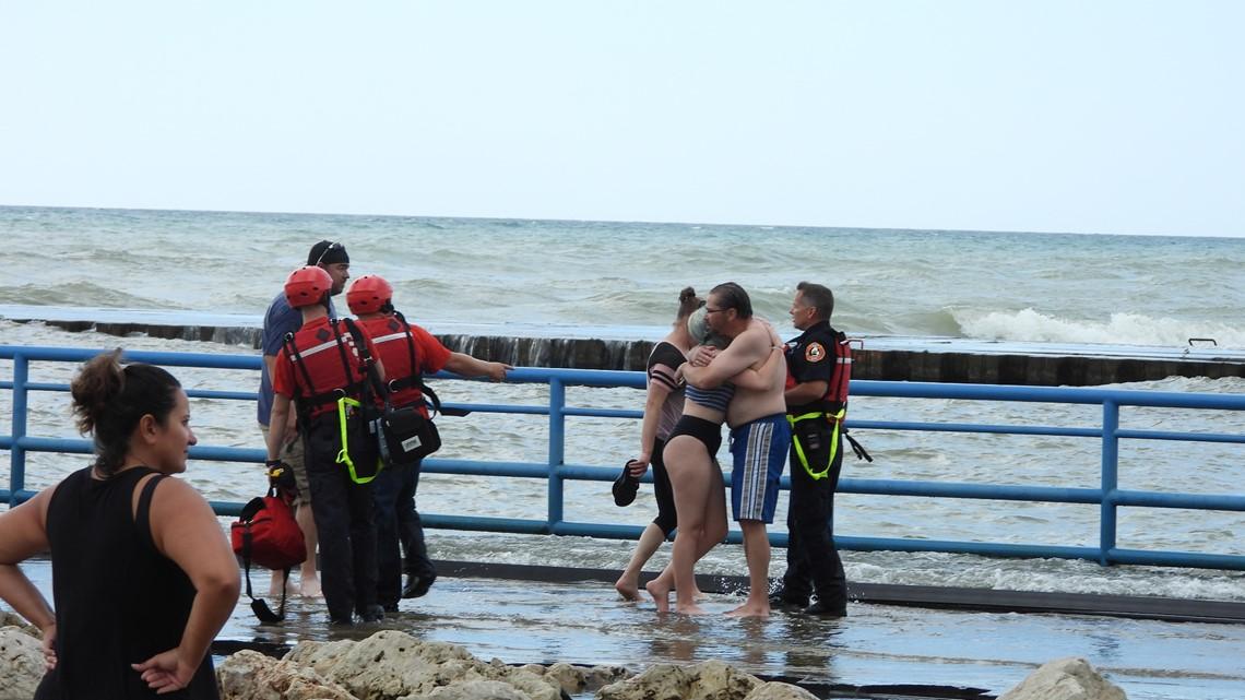 South Haven beach rescue