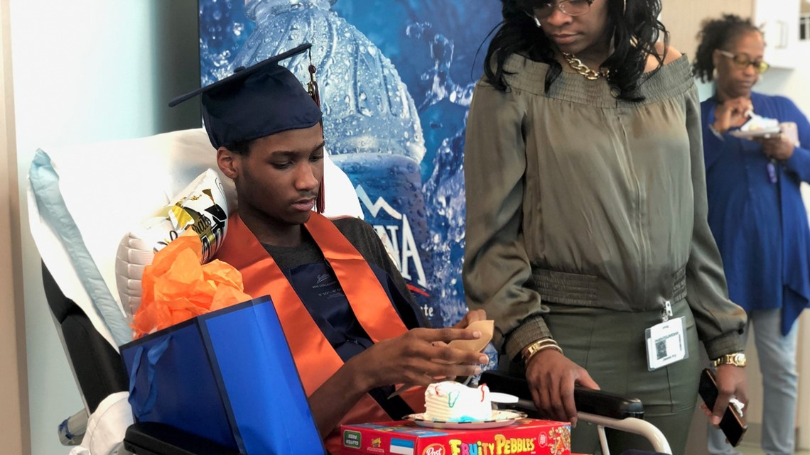 Grand Rapids school holds special graduation ceremony for student in the hospital
