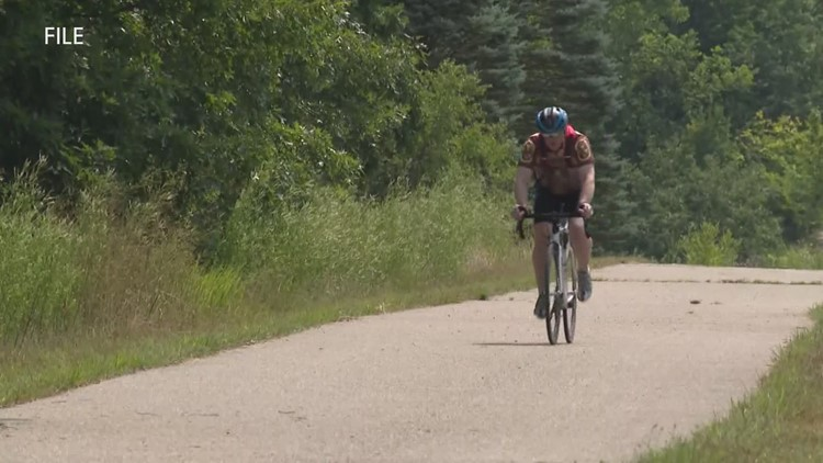 2 bike trails connecting in Muskegon in September