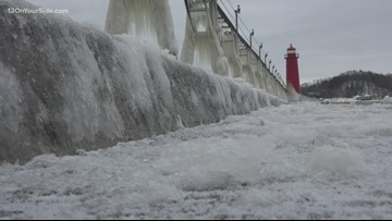 Grand Haven's downtown becomes frozen in time