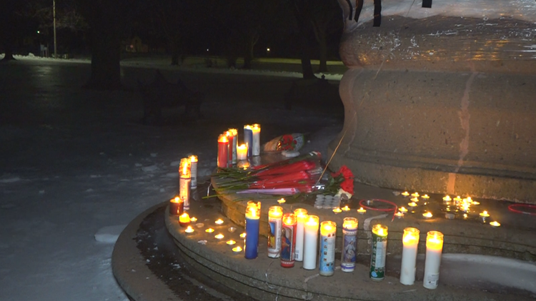 Candlelight vigil for TJ Wells